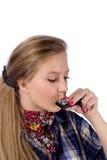 harmonica девушки страны Стоковая Фотография
