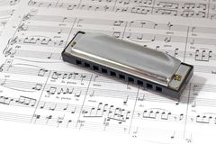Harmonica Photos libres de droits