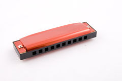 Harmonica. Musical instrument specific for blues and country music Stock Photo