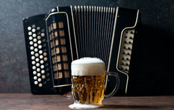 Harmonica and Beer Royalty Free Stock Photo