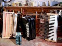 Harmonica désassemblé Photos libres de droits