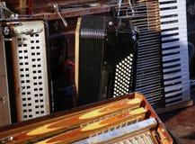 Harmonica et ses pièces Photo stock