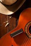 Harmonica on Guitar Royalty Free Stock Photo