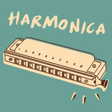 Harmonica vector Stock Photos