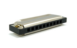 Harmonica isolated on white with shadows Royalty Free Stock Photography
