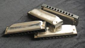harmonicas син Стоковое Изображение RF