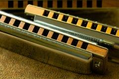 Harmonicas brillants Images stock
