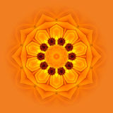 Harmonie Mandala 02. Orange mandala symbol for awakening vector illustration