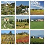 harmonii krajobrazu mieszanka Tuscan Zdjęcia Royalty Free