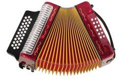 Harmonika. Geïsoleerd royalty-vrije stock afbeeldingen