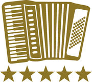 Harmonika met 5 sterren Royalty-vrije Stock Afbeeldingen