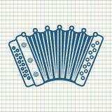 harmonika Muzikaal instrument voor jong geitje Het stuk speelgoed van de baby Royalty-vrije Stock Fotografie