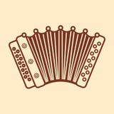 harmonika Muzikaal instrument voor jong geitje Het stuk speelgoed van de baby Royalty-vrije Stock Afbeeldingen
