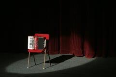 Harmonika op stadium royalty-vrije stock foto