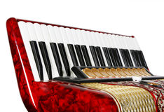 Harmonika, toetsenborden, fragment stock foto's