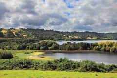 Harmonious lake landscape Stock Images
