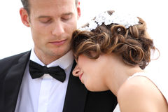 Harmonious young newlywed couple Royalty Free Stock Photo