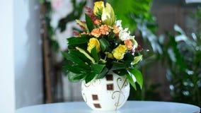 Harmoniously created flower bouquet stock video
