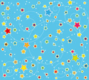 Harmonisch ontwerp met sterren stock illustratie