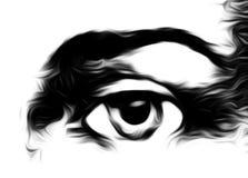 Harmonisch vreedzaam geestelijk oog, grafische collage op witte achtergrond vector illustratie