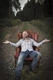 Harmonische en Gelukkige mens in het Hout royalty-vrije stock foto