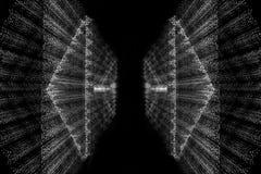 Harmonische weiße Linien auf einem schwarzen Hintergrund 1 Stockfotografie