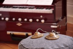 Harmonium and cymbal Royalty Free Stock Photos