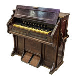 Harmonium. Pump organ. Pump organ on the white background Royalty Free Stock Photography