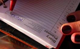 harmonogram Zdjęcie Royalty Free