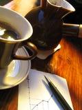 harmonogram kawy Zdjęcie Royalty Free