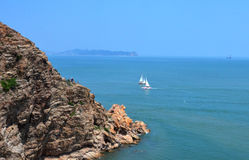 harmonyï ¼ ŒRock;海岛;sailingï ¼› ok 免版税图库摄影