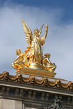 Harmony. Gilt bronze statue atop the Opera Garnier in Paris. HARMONY sculpted by Charles Gumery stock image