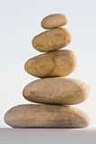 Harmony. Five small stones balanced on top of each other Stock Photography