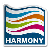 Harmony abstract wave sticker Royalty Free Stock Photo