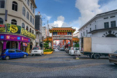 Harmony Arch, the entrance to Chinatown. Kuching. Kuching, Malaysia - Dec 29, 2015: Harmony Arch is the entrance to Chinatown. Sarawak Borneo Royalty Free Stock Images