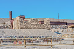 Harmony Borax Works dans Death Valley image libre de droits