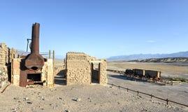 Harmony Borax Works, Death Valley Imagen de archivo libre de regalías