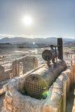 Harmony Borax Works, Death Valley fotos de archivo libres de regalías