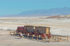 Harmony Borax Works in Death Valley, USA Lizenzfreie Stockfotos