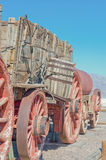 Harmony Borax Works in Death Valley, USA Stockbilder