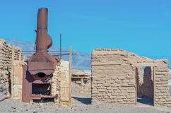 Harmony Borax Works in Death Valley. USA Royalty Free Stock Image