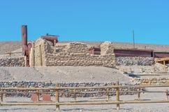 Harmony Borax Works en Death Valley imagen de archivo libre de regalías