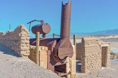 Harmony Borax Works en Death Valley EE.UU. Imagen de archivo