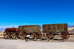 Harmony Borax Works en el parque nacional de Death Valley, los E.E.U.U. foto de archivo libre de regalías