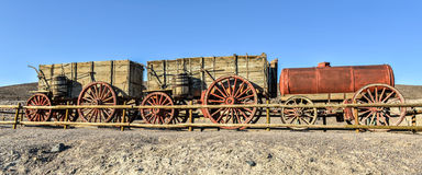 Harmony Borax Works, o Vale da Morte Foto de Stock