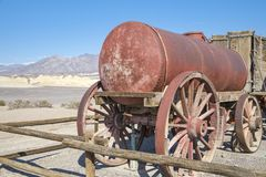 Harmony Borax Works. Old twenty-mule team wagon at the old Harmony Borax Works in Death Valley, California Royalty Free Stock Images