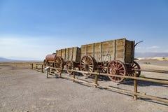Harmony Borax Works. Old twenty-mule team wagon at the old Harmony Borax Works in Death Valley, California Stock Photo