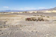 Harmony Borax Works. Old twenty-mule team wagon at the old Harmony Borax Works in Death Valley, California Stock Images