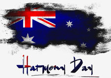 Harmony Day with Australia flag Royalty Free Stock Images