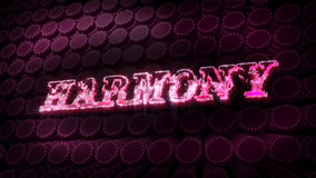 Harmony  - Glitter Sparkle Text stock video
